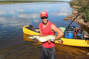 Fishing at Churchill River Canoe Outfitters.