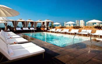 Outdoor pool at Thompson Beverly Hills.