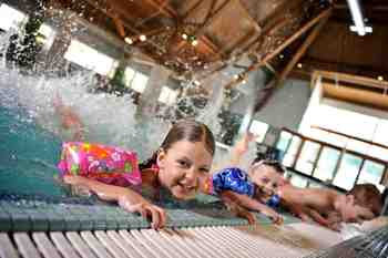Indoor pool at Alyeska Resort.