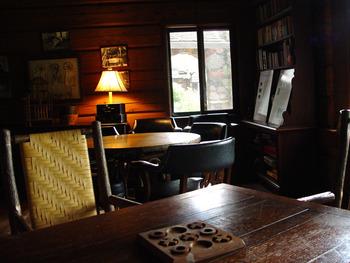 Lodge lounge at Stout's Island Lodge.