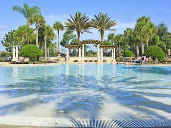 Vacation rental public pool at SkyRun Vacation Rentals - Orlando, Florida.
