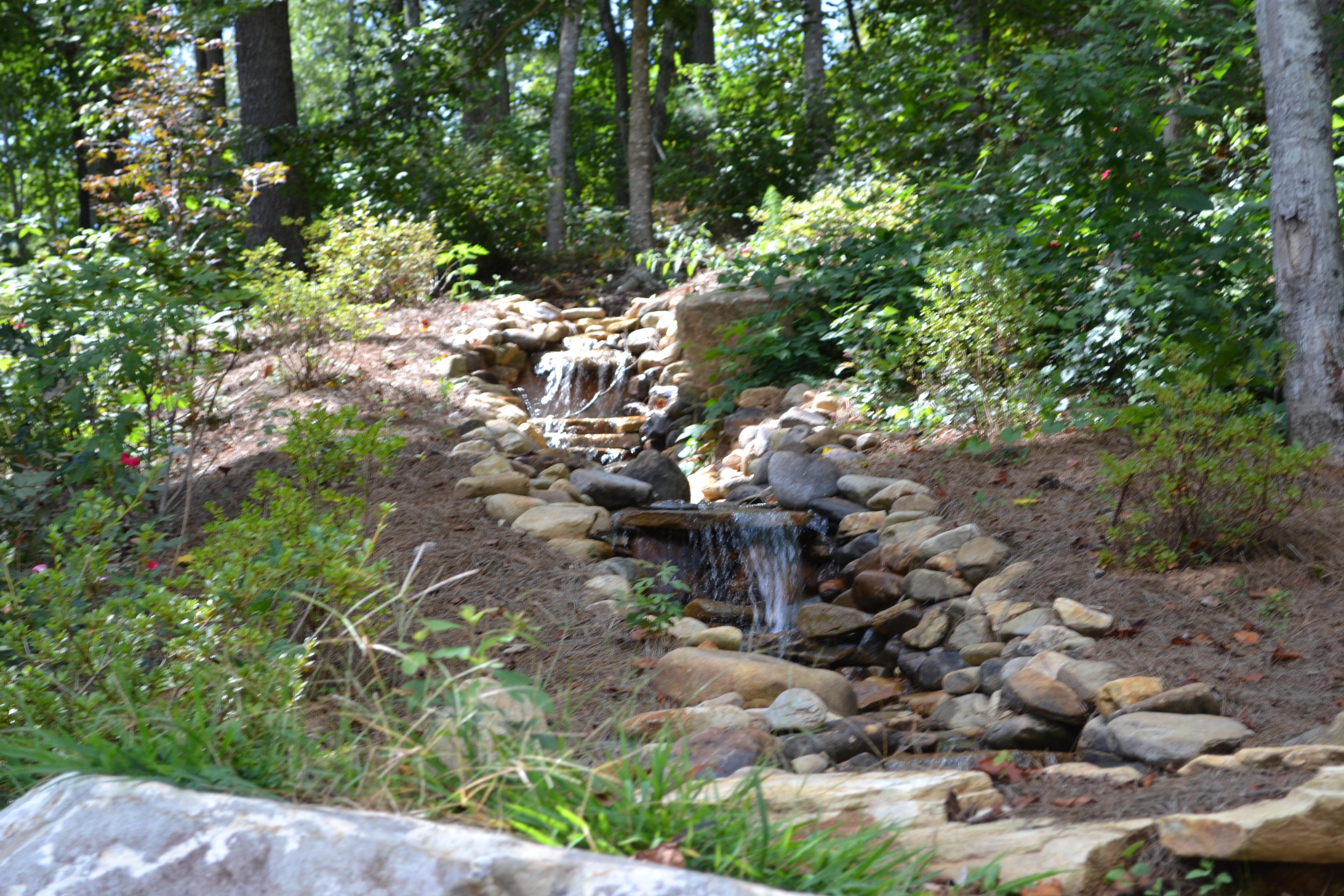 Stream at Sautee Mountain Retreat.