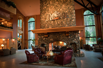 Lobby view at Bonneville Hot Springs Resort & Spa.