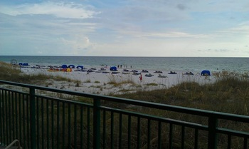 Balcony view at Vistas on the Gulf.