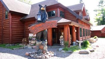Lodge exterior at Big Bear Lodge and Cabins.