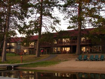 Exterior view of Wild Eagle Lodge.