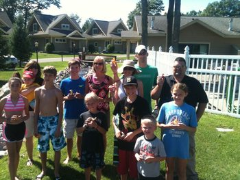 Family reunion at Kavanaugh's Sylvan Lake Resort.