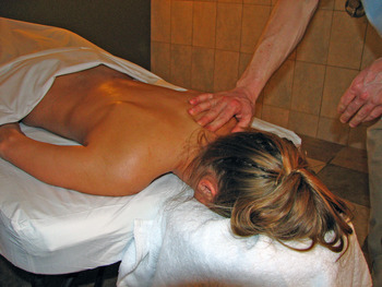 Spa massage at Banff Caribou Lodge.