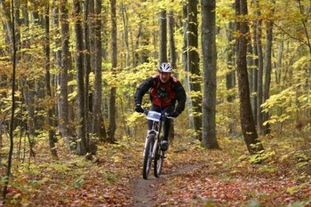 Biking at Crystal Mountain Resort and Spa.