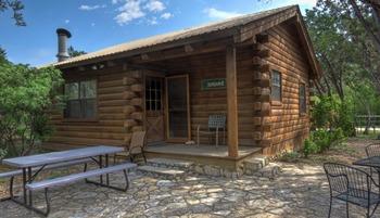 Cabin exterior at Foxfire Cabins.