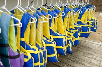 Life jackets at ParkShore Resort.