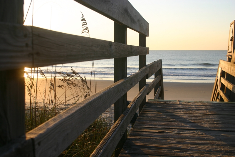 Path to beach at Litchfield Real Estate.