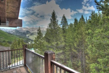 Vacation rental balcony at SkyRun Vacation Rentals - Copper Mountain.