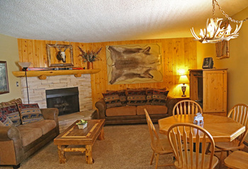 Rental living room at Range View Rentals.