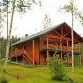 Deluxe Cabin Exterior at Glacier Outdoor Center