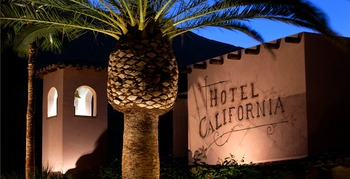 Exterior view of Hotel California.