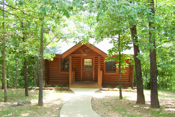 Cabin exterior at Westgate Branson Woods.