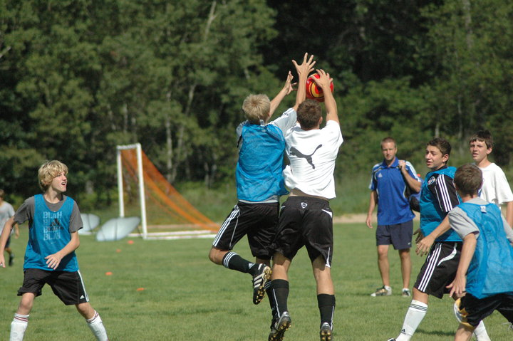 Soccer camp at Garland Lodge & Resort.