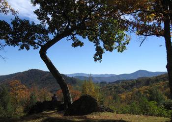 Mountain view at Cataloochee Ranch.